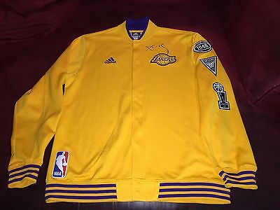 Kobe Bryant Lakers Signed Game Used Worn 15-16 Final Season Home Warm Up Jacket