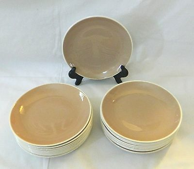 HARKERWARE China -- PINK COCOA - SPRINGTIME - 17 BREAD & BUTTER PLATES
