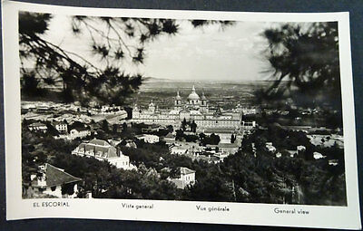 Antigua Postal Monasterio De El Escorial Vista General   Madrid  Cc4254