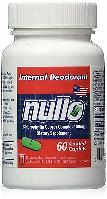 Nullo Internal Deodorant Tablets Controls Body Odors Safely and Effectively -