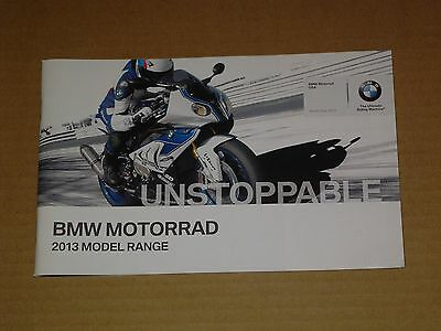 2013 Bmw Motorcycles Model Range Brochure Catalog Mint! 60 Pages All Models