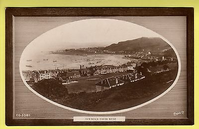Renfrewshire - Gourock, From West - Rapid Co. Real Photo Postcard