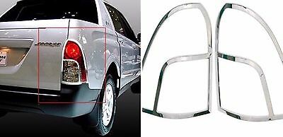 Chrome Rear Tail Lamp Cover 2 pcs For Actyon Sports 2006-2010