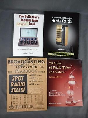 4 Reference Guide Books Vacuum Tubes Radio Consoles Broadcasting 1950 Yearbook