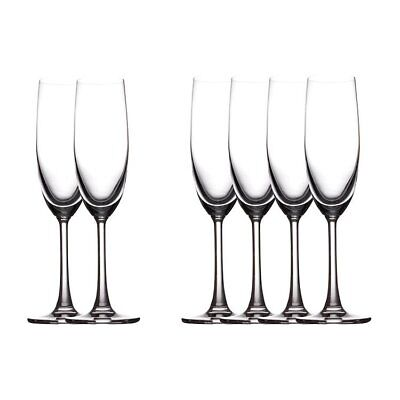 NEW Maxwell & Williams Cosmopolitan Champagne Flute 160ml Set of 6 (RRP $50)