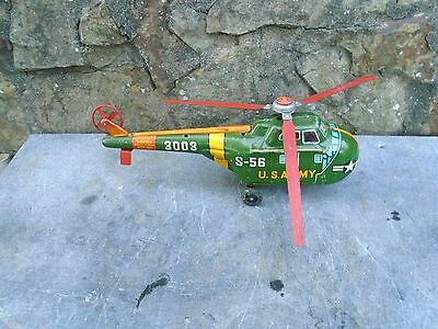Vintage Tin-Plate Helicopter By Daiya Japan
