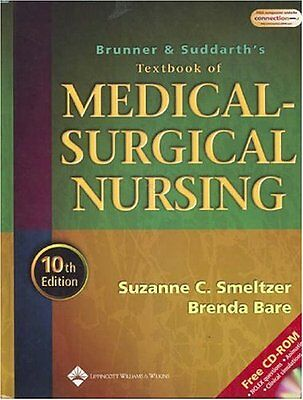 Brunner and Suddarths Textbook of Medical-Surgical Nursing, 10th Edition by Suz