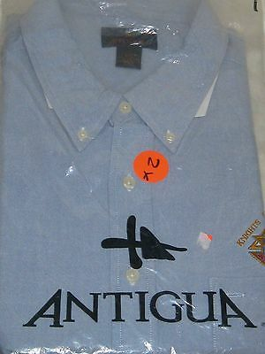 New Antigua Oxford Long Sleeve Shirt Embroidered XXL K & C Knights of Columbus