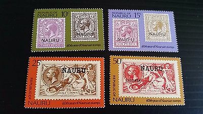 Nauru 1976 Sg 147-150 60Th Anniv Of Stamps Mnh