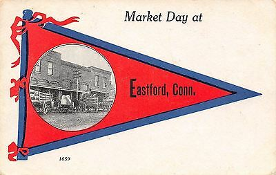 Eastford CT Market Day~Exaggerated Corncobs~Potatoes~Hens, Beat These Eggs? 1914