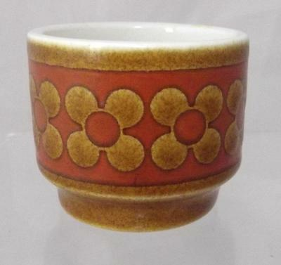 Hornsea Pottery Saffron Pattern Egg Cup in White Earthenware