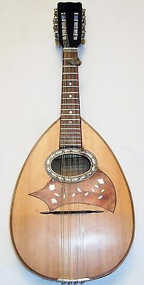 Lovely sounding Old French Celtic Style Mandolin good playing order & condition