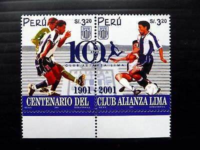 PERU 2001 Football Se-tenant Pair SG2093a U/M NB1025