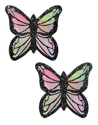 Glitter Pastel Rainbow Butterfly Nipple Pasties by Pastease o/s