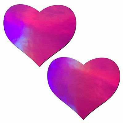 Pastease Hologram  Pink Heart - Nipple Pasties by Pastease o/s