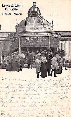 Portland Oregon~Lewis & Clark Expo~NCR Motion Pictures~Free~Movie Goers~1905