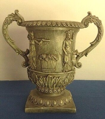 Roman Greek Double Handled Urn Vase Home Decor