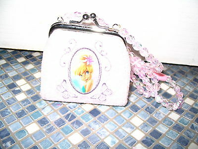 Disney Store Tinkerbell Pink Beaded Strap Purse Brand New Very Rare!