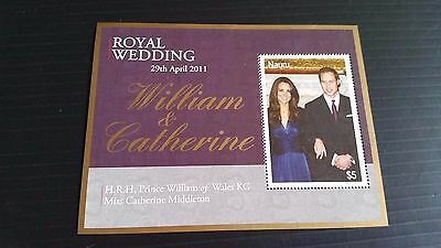 Nauru 2011 Sg Ms695 Royal Wedding Mnh