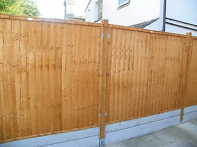 3 Forest Green Close Board Fence Panel 6ft x 5ft