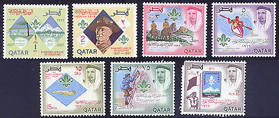 Qatar. 1967 Diamond Jubilee Boy Scouts Set Of 7 Stamps  Mint (Lightly Hinged)