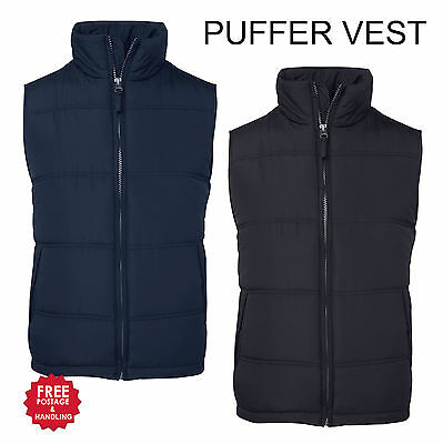 Puffer Vest Zip up mens womens adults black navy quilted size 12 - 5XL