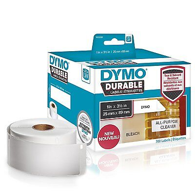 "Dymo Durable Labels  LW 1933081  White 1"" x 3.5"",  2 rolls, 700 labels total"