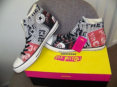 NEW SEX PISTOLS Converse Chuck Taylor All Stars Hi-Top Shoes Sneakers Sz US 12.5