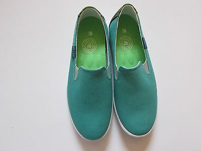 NEW! Women's Turquoise Canvas Slip-On Sneaker Shoes Size 8.5 Medium - REDUCED!