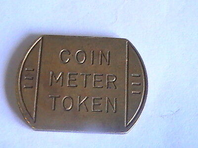 COIN METER TOKEN  17.6 mm x 23.8 mm Brass