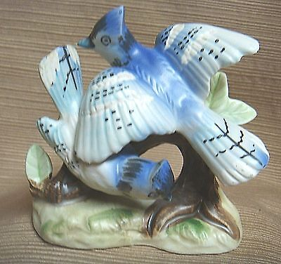 VINTAGE Hand Painted BLUE JAY Figurine by RELPO JAPAN #S1475