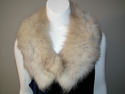 Vintage 60s ARCTIC FOX FUR Collar