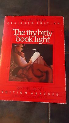 VINTAGE 1983 The Itty Bitty Book Light - ABRIDGED Edition,   BATTERY OR PLUGIN
