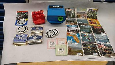 View Master Projector with Huge Lot of Reels and 2 Hand Held Viewers RARE PHOTOS