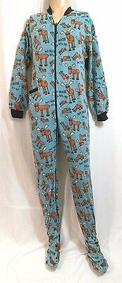Lazy One Foot Pajamas Trap Door Flapjack Don't Moose With Me Unisex Small