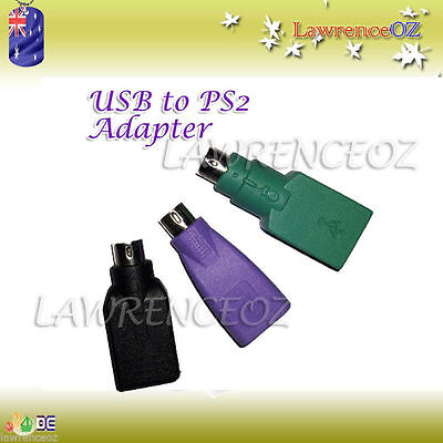 USB TO PS2 PS/2 Adapter Connector PC Mouse Keyboard - New Style