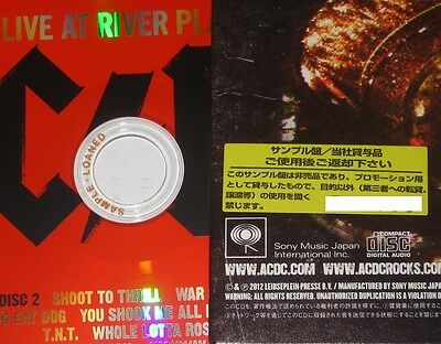 AC/DC Japan PROMO Live At River Plate 2 x CD with OBI still NEW and UNOPENED!