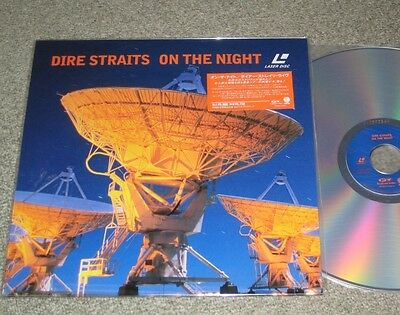 DIRE STRAITS Japan music LASERDISC complete MARK KNOPFLER On The Night live