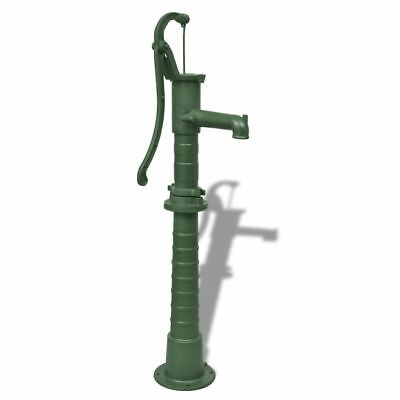 B#Garden Water Pump with Mounted Stand Base Pool Cast Iron Green High Quality