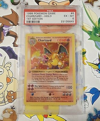 PSA 6 1st Edition Charizard 4/102 Base Set Shadowless Holo Pokemon Card First