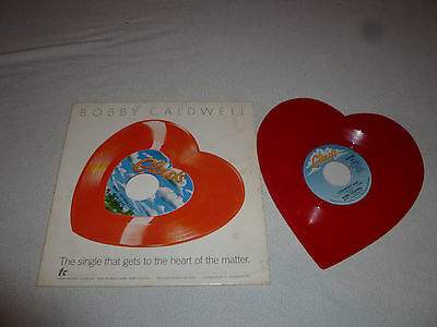 Vintage Bobby Caldwell Record Cl-Hss1 Heart Shaped Lp Red Vinyl Clouds Records >
