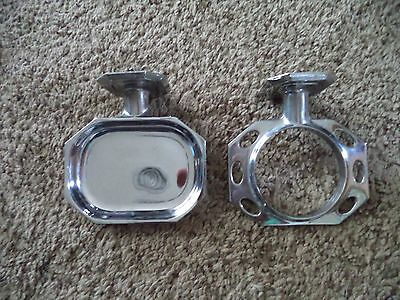 2 Pc Set Vintage Mid Century Chrome Bathroom Soap Dish & Toothbrush Cup Holder