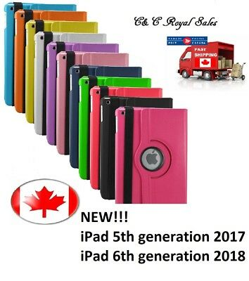 NEW Rotating 360 Smart Case Cover for iPad 5th/2017 & iPad 6th/2018 generation