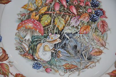 Gorgeous Brambly Hedge 'Autumn' Plate by Royal Doulton