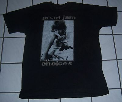 VINTAGE 1992 Authentic PEARL JAM CHOICES/9 Out Of 10 Kids Guns SHIRT XL Tour l