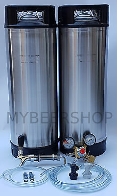 XPERT BALL LOCK KEGGING KIT with ENTRY REGULATOR HOME BREW BEER KEG SYSTEM SET
