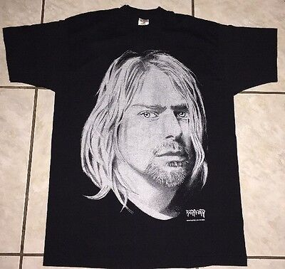 Kurt Cobain - Bradford Gallery - Men's Large T Shirt - Used Black