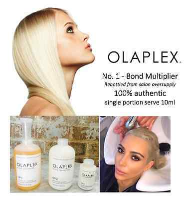 OLAPLEX No.1 Bond Multiplier 10ml – 100% AUTHENTIC – rebottled
