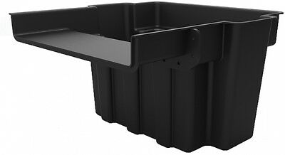 Pond Waterfall Spillway Box UV Resistant Two-Levels Filtration Black 16 Inch