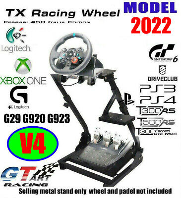 GTART Racing Simulator Steering Wheel Stand for G27 G29 PS4 G920 T300RS 458 T150